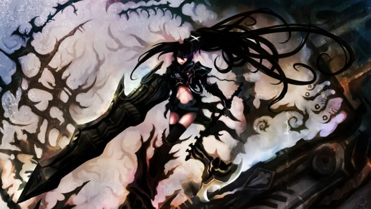 anime, Anime girls, Black Rock Shooter, Insane Black Rock Shooter HD Wallpaper Desktop Background