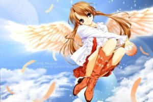 anime, Anime girls, Wings, Sister Princess
