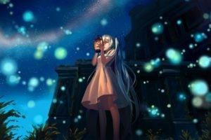 anime, Anime girls, Vocaloid, Hatsune Miku, Landscape