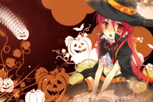 anime girls, Halloween, Shana, Shakugan no Shana