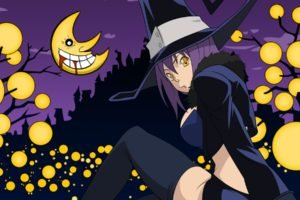 anime girls, Halloween, Soul Eater, Blair, Witch