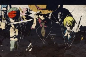 One Piece, Strawhat pirates, Monkey D. Luffy, Roronoa Zoro, Tony Tony Chopper, Sanji, Brook