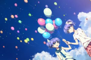 anime girls, Balloons, DJ Max