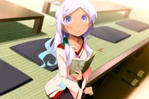 anime girls, Anime, Kaminoyu, Mizumoto Anri, Schoolgirls