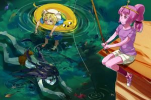 Adventure Time, Jake the Dog, Finn the Human, Princess Bubblegum, Marceline the vampire queen