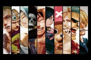 anime, One Piece, Panels, Straw Hat Pirates