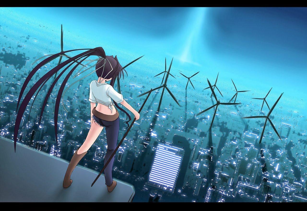 anime, To aru Majutsu no Index, Wind turbine Wallpaper