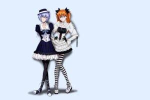 anime, Neon Genesis Evangelion, Asuka Langley Soryu, Ayanami Rei