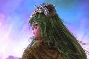 anime, Bleach, Nelliel Tu Odelschwanck, Artwork, Women, Green hair