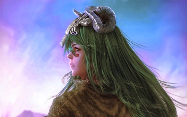 anime, Bleach, Nelliel Tu Odelschwanck, Artwork, Women, Green hair HD Wallpaper Desktop Background
