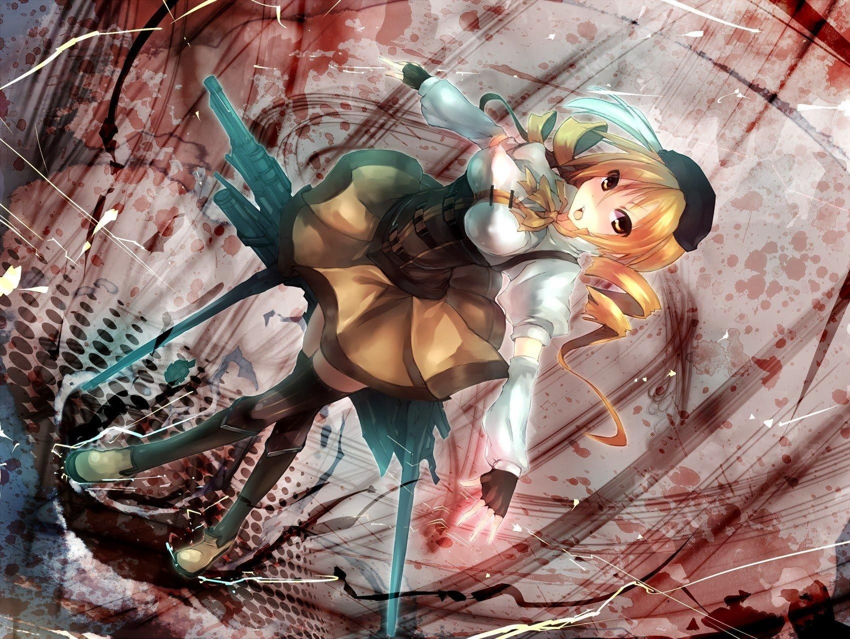 anime, Mahou Shoujo Madoka Magica, Tomoe Mami, Anime girls Wallpaper