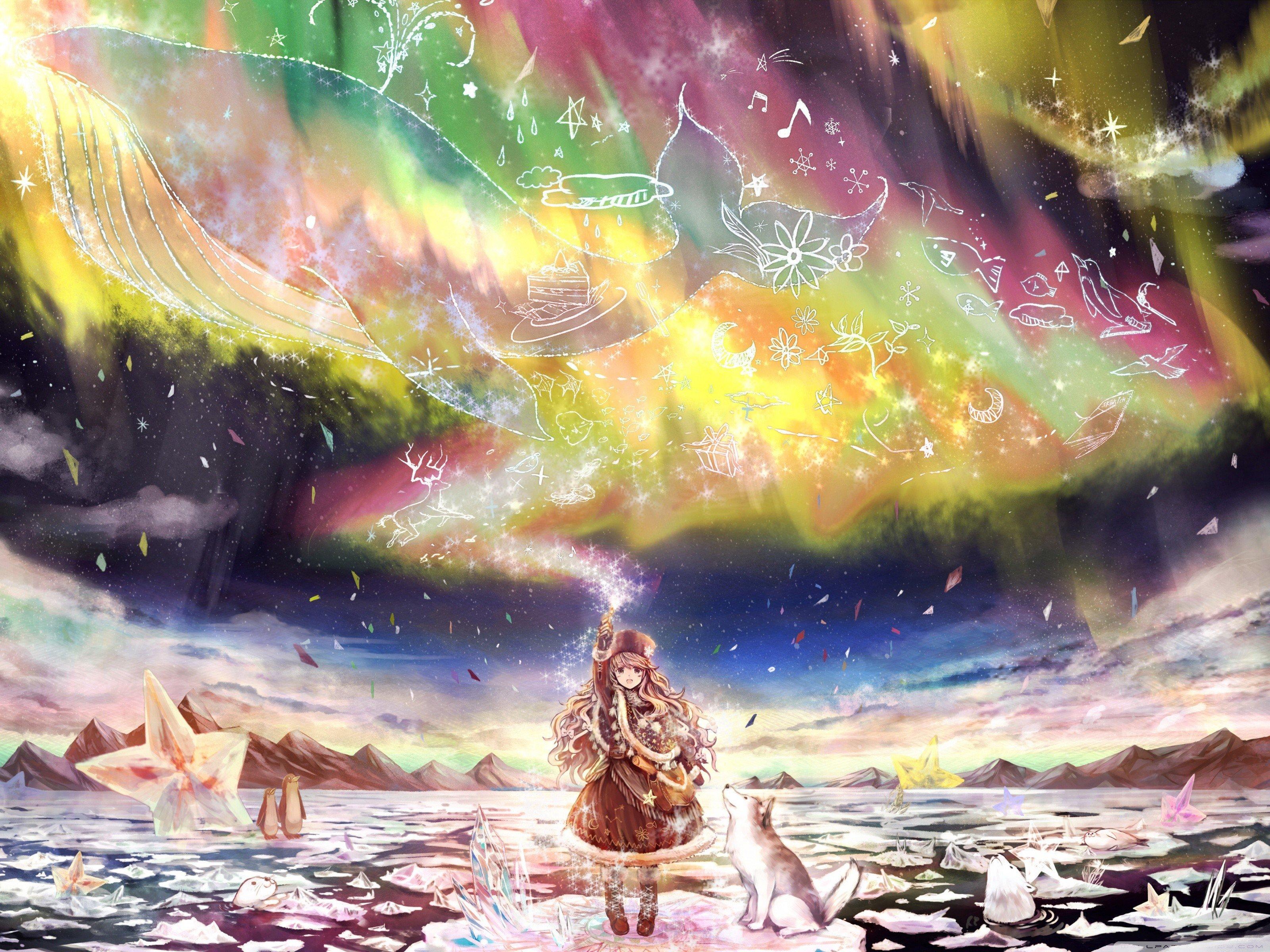 fantasy art, Aurorae, Magic Wallpaper