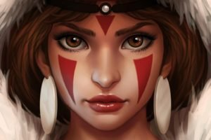 artwork, Princess Mononoke