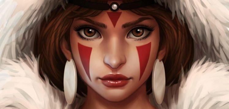 artwork, Princess Mononoke HD Wallpaper Desktop Background