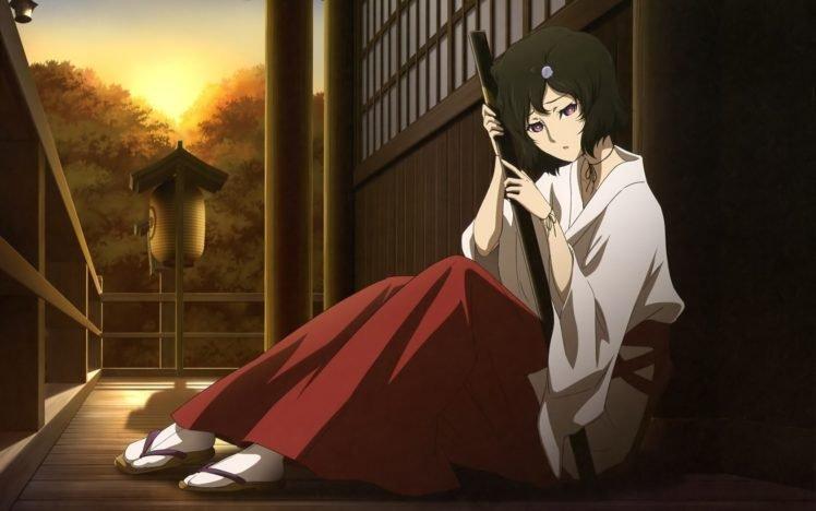 anime, Steins;Gate, Miko, Traditional clothing, Urushibara Ruka HD Wallpaper Desktop Background