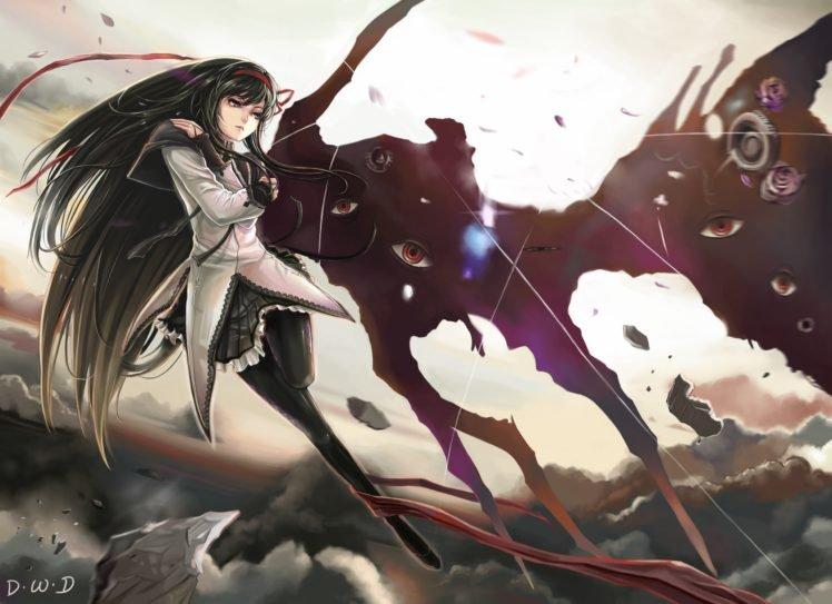 anime, Mahou Shoujo Madoka Magica, Anime girls, Akemi Homura HD Wallpaper Desktop Background