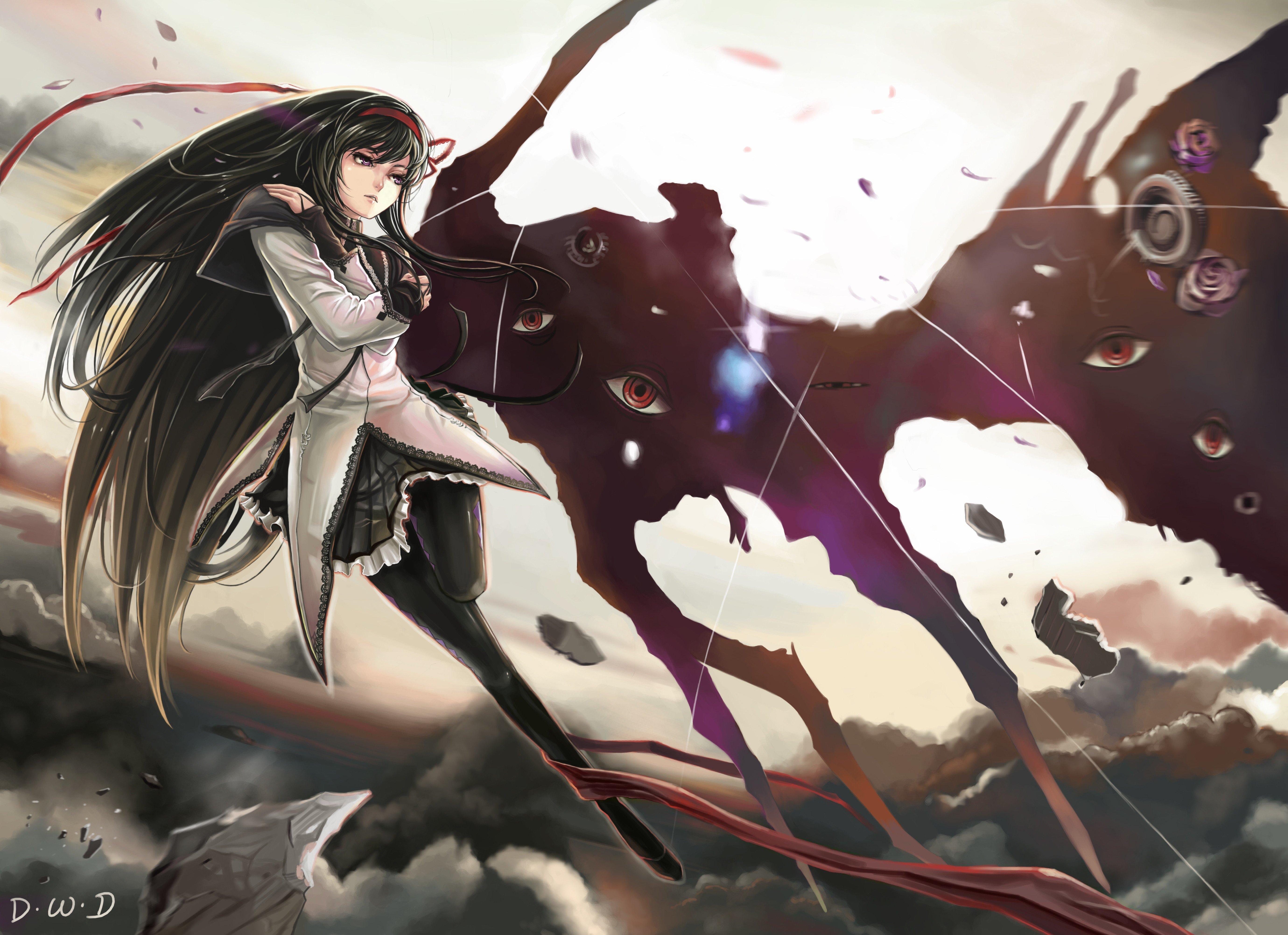 anime, Mahou Shoujo Madoka Magica, Anime girls, Akemi Homura Wallpaper