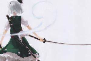 anime, Touhou, Konpaku Youmu, Sword