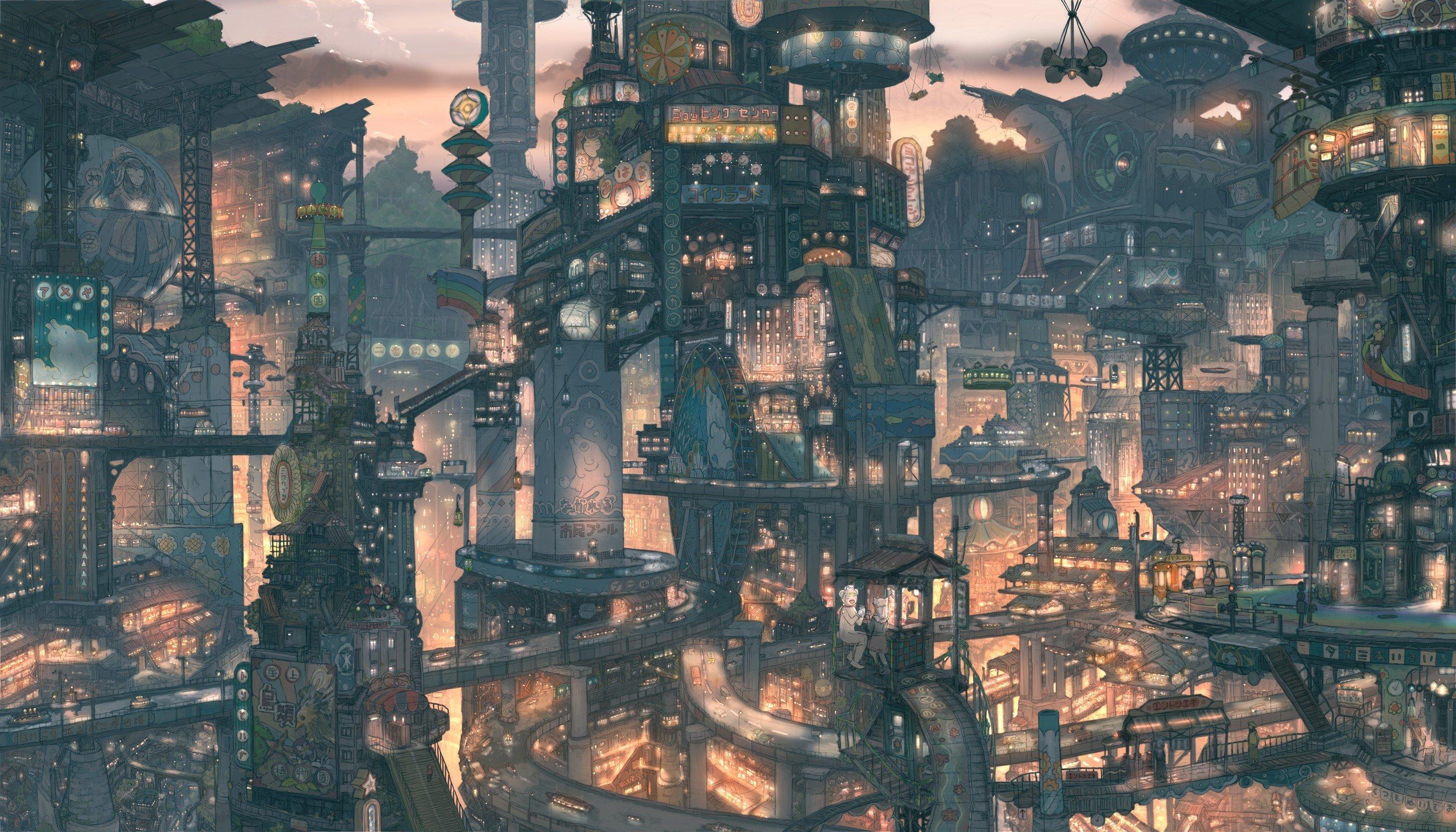 city, Anime, Imperial Boy Wallpaper