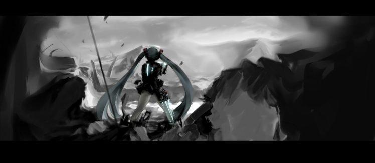 Vocaloid, Hatsune Miku, Twintails, Anime girls, Mivit HD Wallpaper Desktop Background