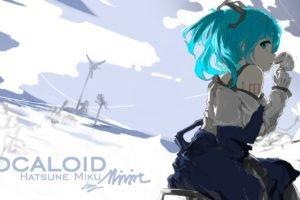 Vocaloid, Mivit, Hatsune Miku, Anime girls, Twintails, Aqua hair, Aqua eyes