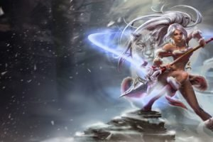 Nidalee, League of Legends, Champions league, Snow bunny nidalee