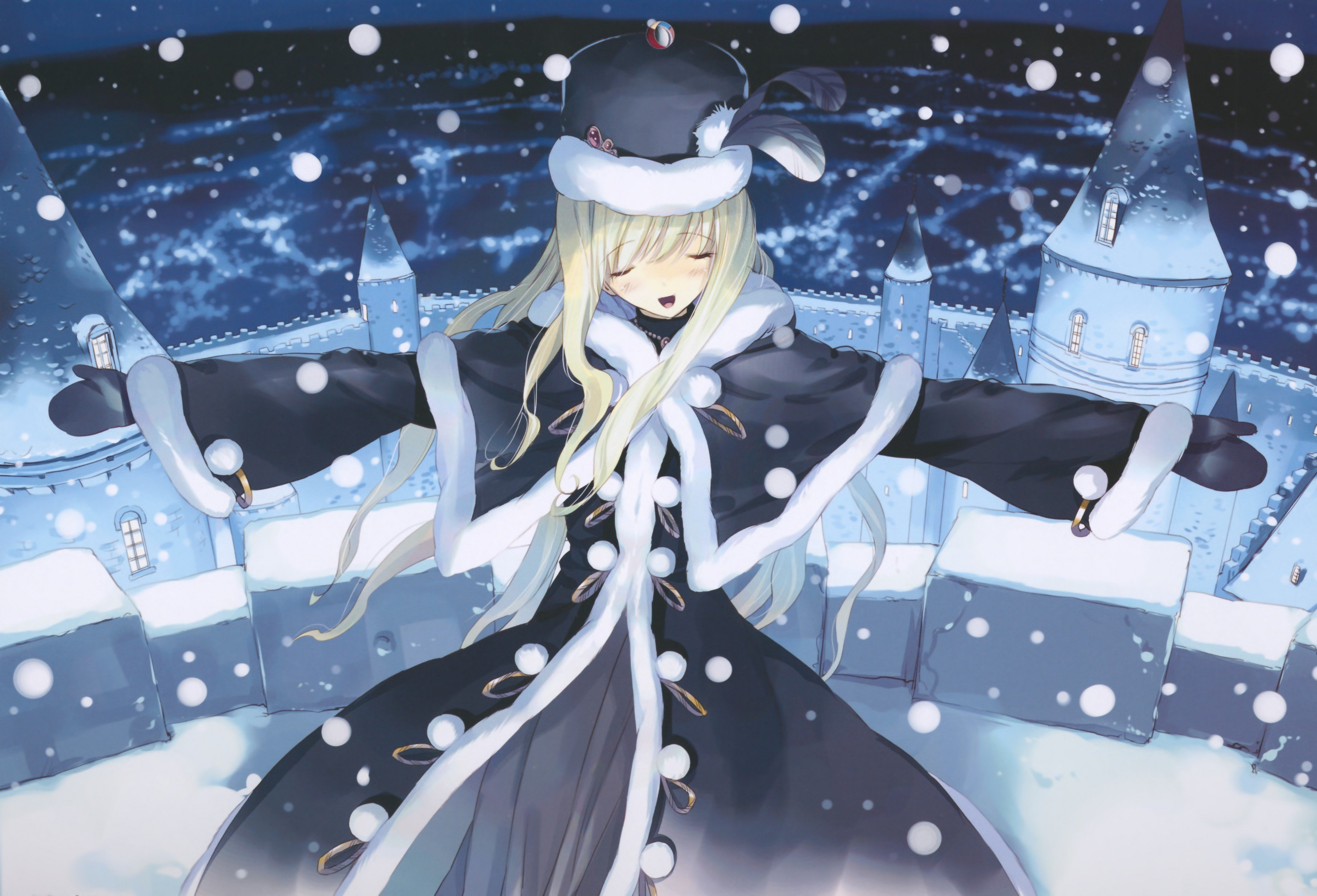 Winter Snow Anime Girls Alice In Wonderland Hd Wallpapers Desktop And Mobile Images Photos
