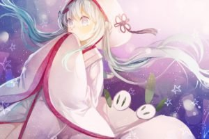 anime girls, Vocaloid, Hatsune Miku, Yuki Miku