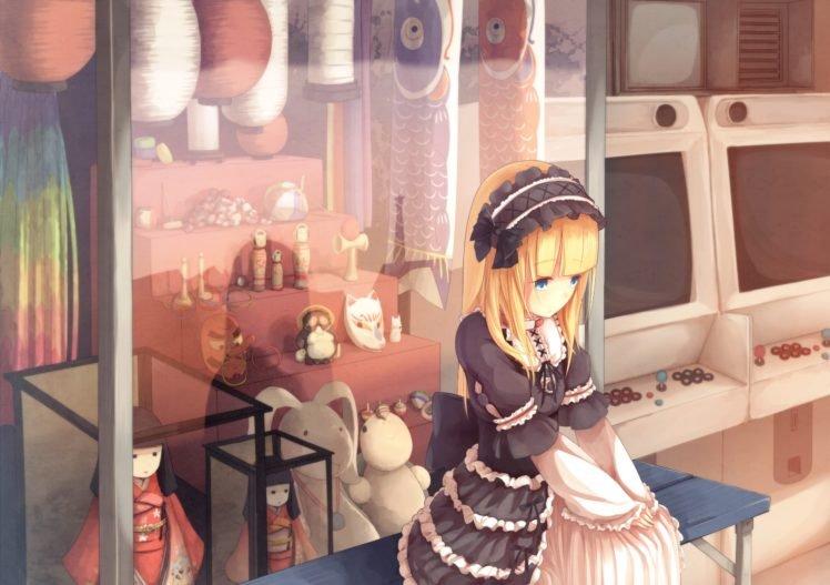 lolita, Anime girls, Blonde, Original characters HD Wallpaper Desktop Background