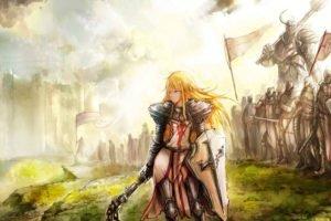 fantasy art, Knights, Diablo III, Armor
