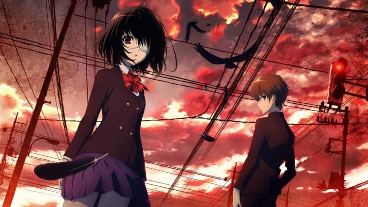 Another, Misaki Mei, Sakakibara Kouichi, Anime HD Wallpaper Desktop Background