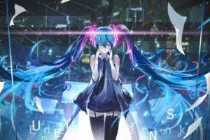 Vocaloid, Hatsune Miku, Anime, Anime girls, Thigh highs