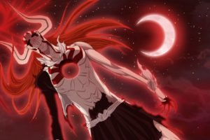 Bleach, Kurosaki Ichigo, Hollow, Clouds, Moon, Vasto Lorde, Crescent moon
