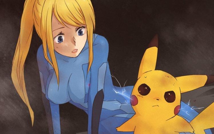 Pikachu, Samus Aran, Anime HD Wallpaper Desktop Background