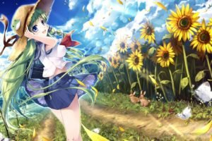 anime, Anime girls, Touhou, Kochiya Sanae