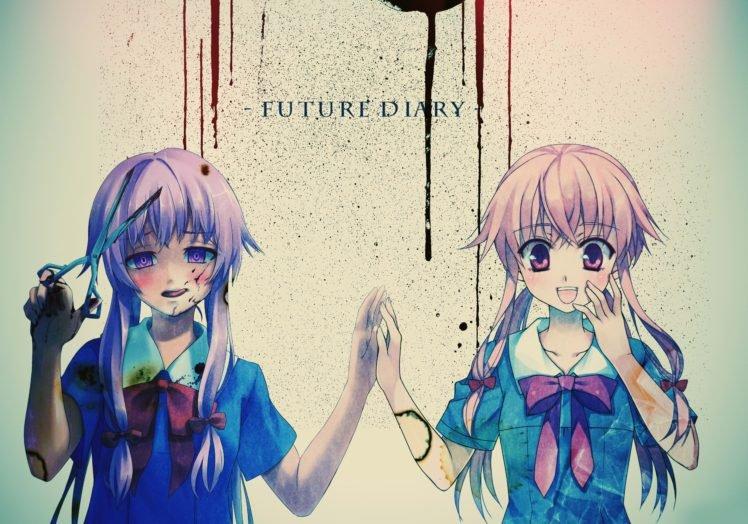 Mirai Nikki, Anime, Gasai Yuno, Anime girls, Yandere HD Wallpaper Desktop Background