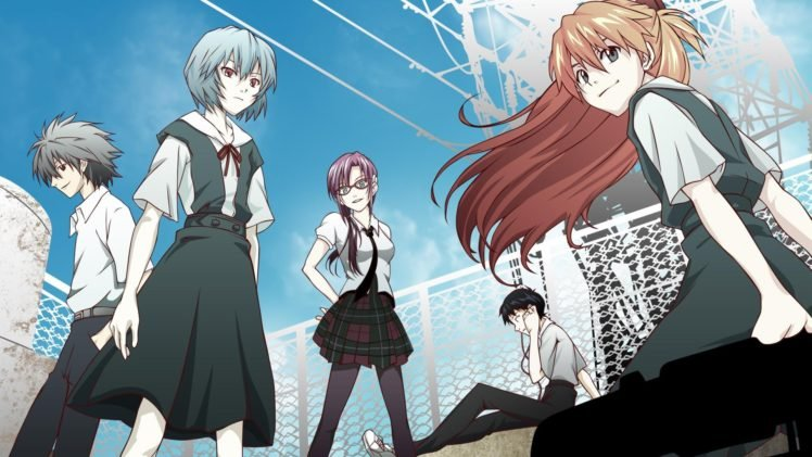 Neon Genesis Evangelion, Anime, Ayanami Rei, Makinami Mari Illustrious, Ikari Shinji, Asuka Langley Soryu HD Wallpaper Desktop Background