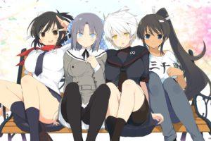 anime girls, Anime, Senran Kagura, Homura (Senran Kagura), Asuka (Senran Kagura), Yumi (Senran Kagura), Miyabi (Senran Kagura)