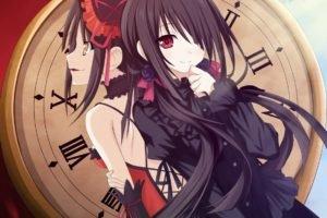 Date A Live, Tokisaki Kurumi, Black hair, Anime