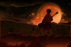 surreal, Guitar, Sunset, FLCL