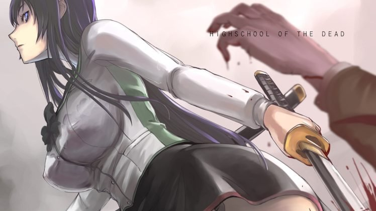 Highschool of the Dead, Katana, Busujima Saeko HD Wallpaper Desktop Background