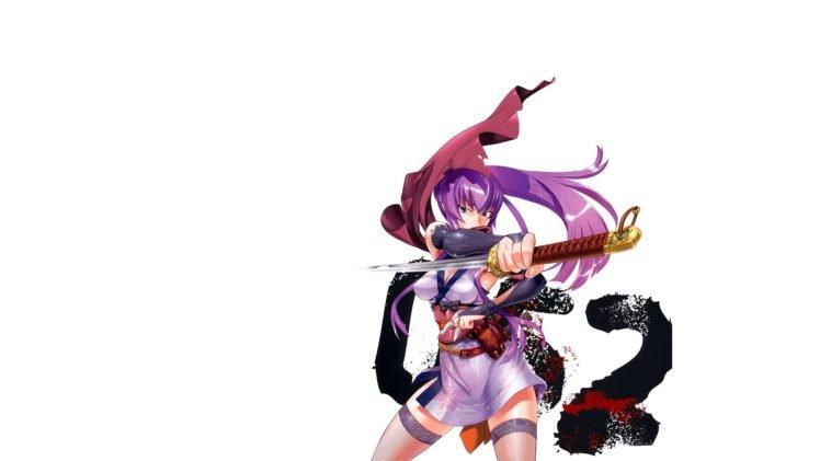 Highschool of the Dead, Katana, Busujima Saeko, Anime girls HD Wallpaper Desktop Background