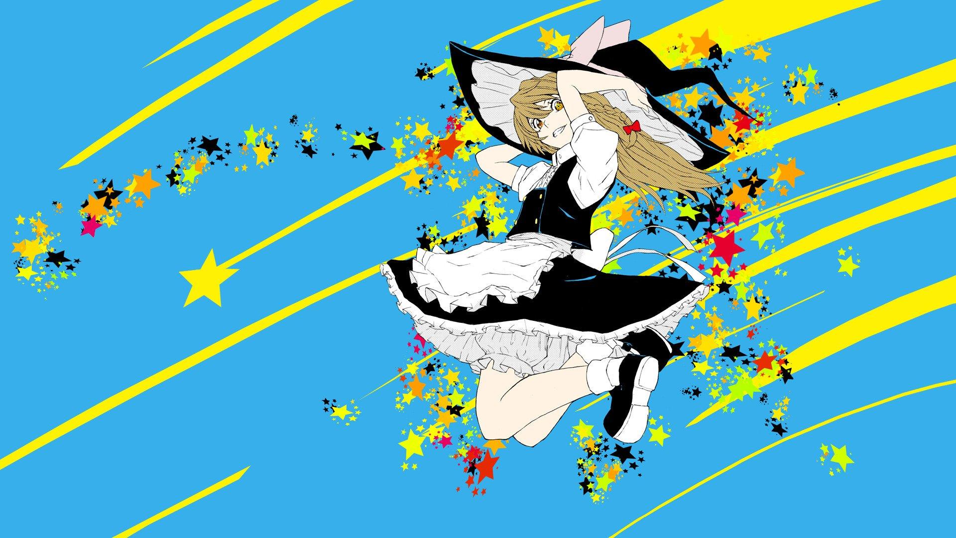 Anime colorful touhou kirisame marisa hd wallpapers - Anime wallpaper mobile hd ...