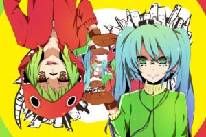 anime, Colorful, Vocaloid, Hatsune Miku, Megpoid Gumi