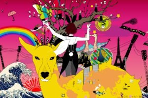 anime, Colorful, Original characters, Asian Kung Fu Generation, Album covers