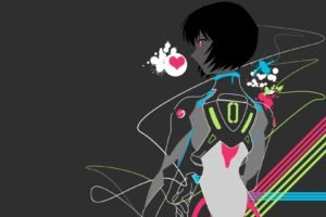 anime, Colorful, Neon Genesis Evangelion, Ayanami Rei