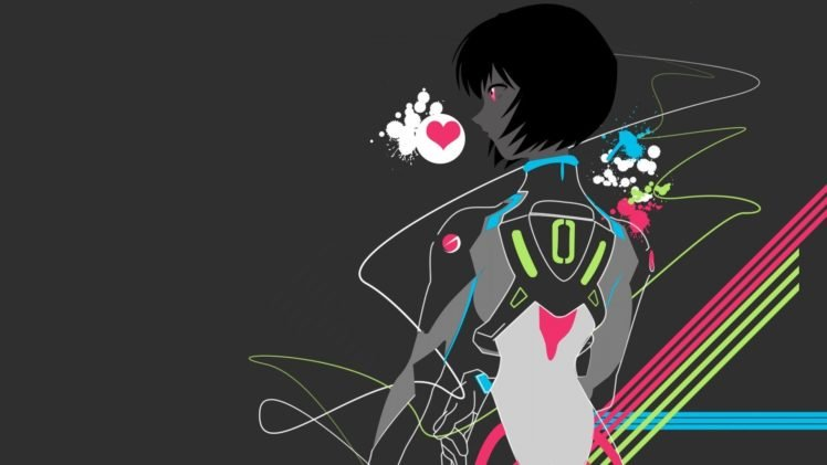 anime, Colorful, Neon Genesis Evangelion, Ayanami Rei HD Wallpaper Desktop Background