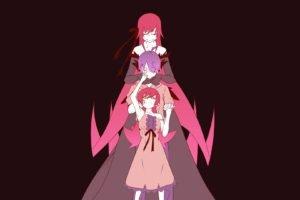 colorful, Anime, Monogatari Series, Oshino Shinobu, Araragi Koyomi