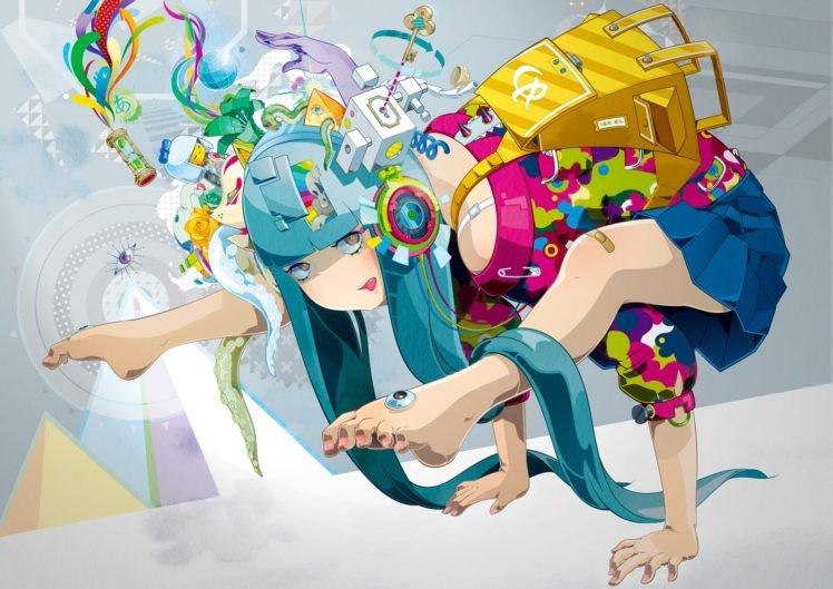 anime, Colorful, Original characters HD Wallpaper Desktop Background
