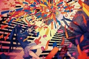 anime, Colorful, K ON!, Hirasawa Yui, Nakano Azusa, Skirt, Panties
